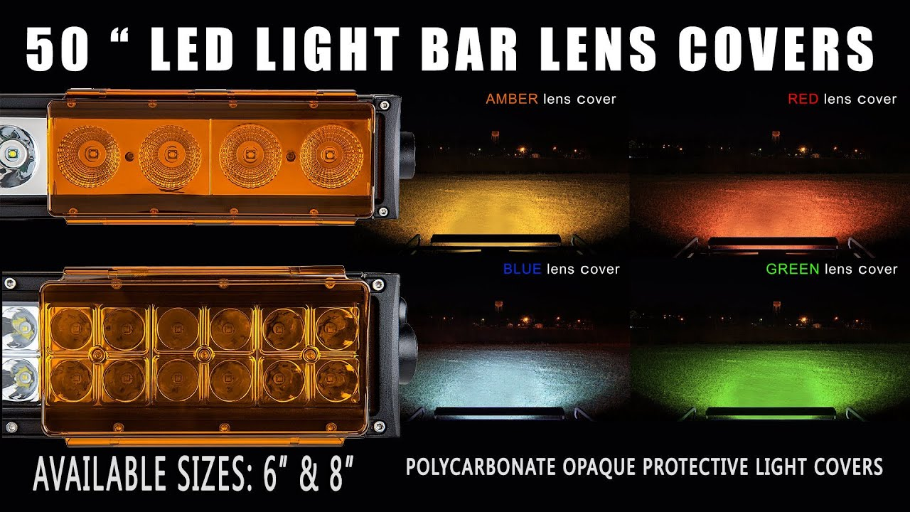 50 Inch Light Bar Lens Covers Youtube