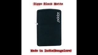 ZIPPO BLACK MATTE UNBOXING! ( MADE IN USA: BOUGHT IN INDIA )