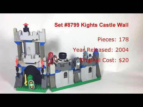 Retro Review: Lego Set #8799 Knights Castle Wall