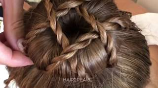 hair2pearl halloween hairstyle tutorial / how to  make halloween pigtail