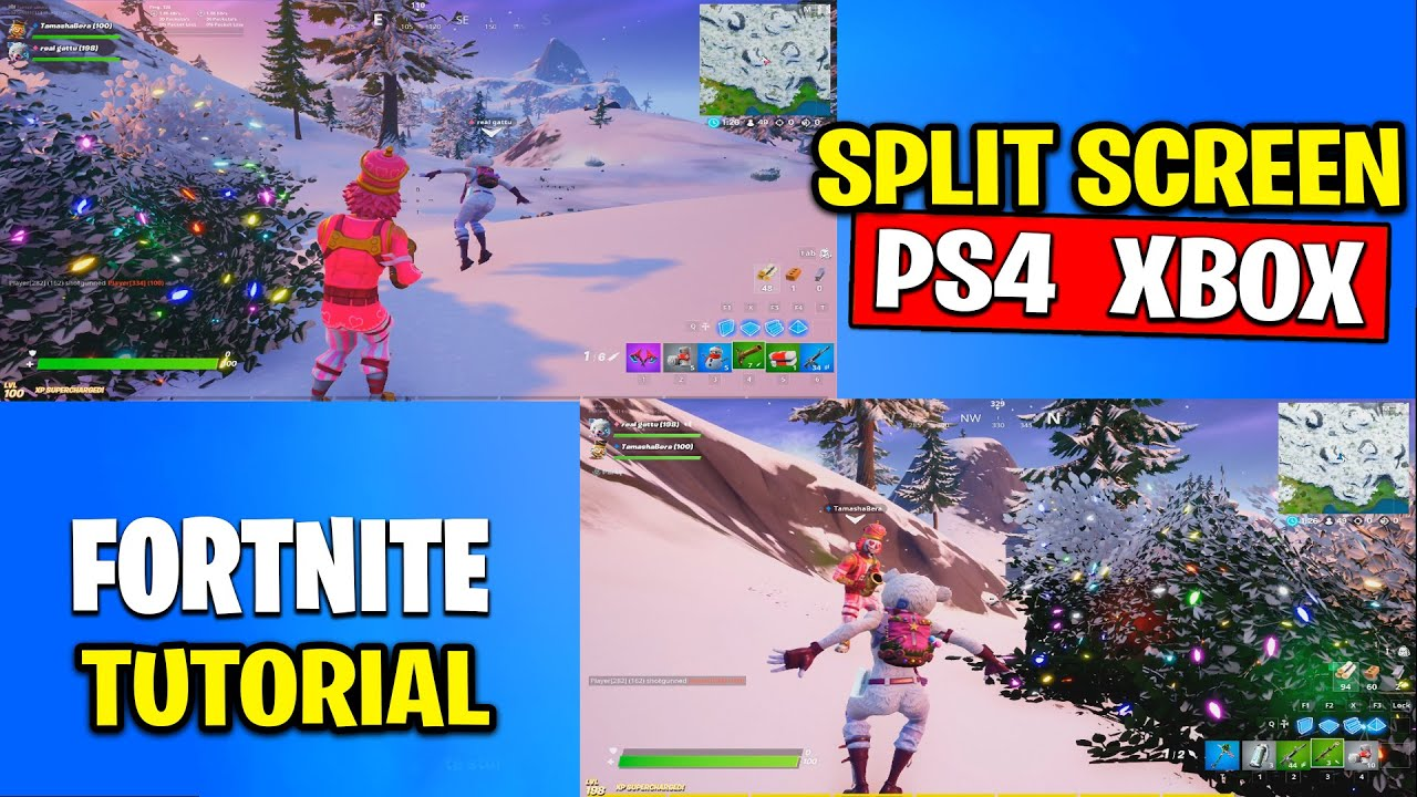HOW TO SPLIT SCREEN IN FORTNITE Tutorial on PS4 and XBOX ...