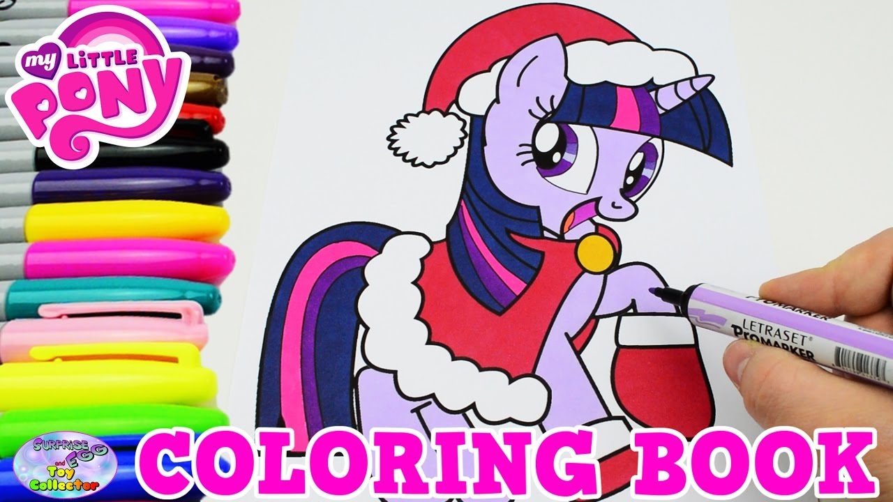 My Little Pony Coloring Book Twilight Sparkle Christmas Episode Surprise  Egg and Toy Collector SETC