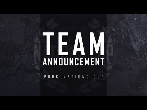 PUBG - Nations Cup 2019 Teams Announcement