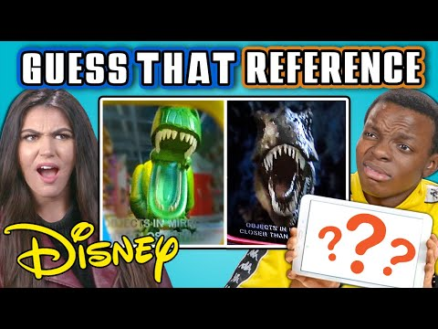 GUESS THAT DISNEY REFERENCE CHALLENGE React