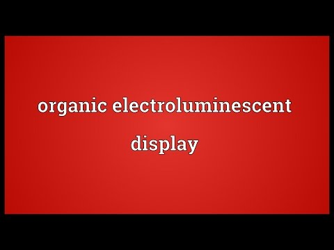 Organic electroluminescent display Meaning