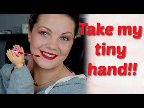 Doing my makeup with tiny hands! OMG!!