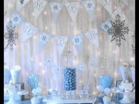 DIY Winter wonderland party decorating ideas YouTube
