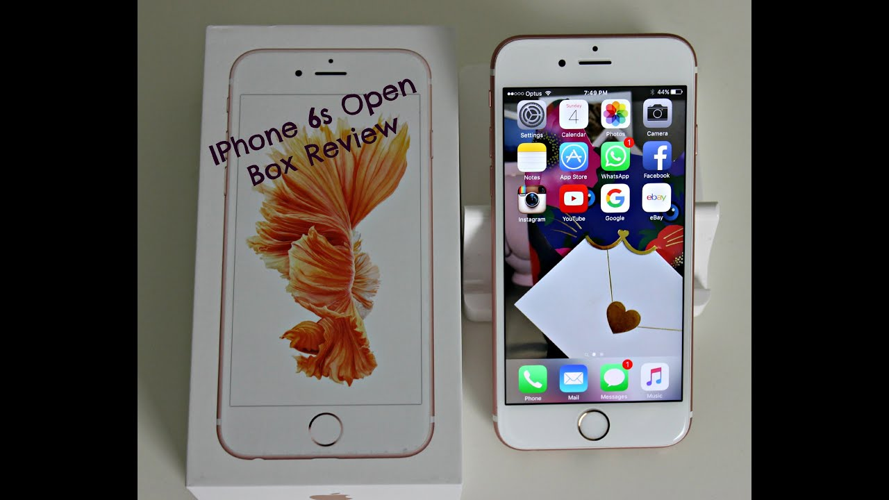 iphone 6s rose gold open box review youtube. Black Bedroom Furniture Sets. Home Design Ideas