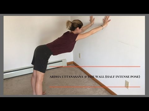 yoga for beginners: Ardha Uttanasana (half intense pose)