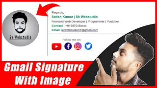 How to create signature in gmail | gmail signature with image |how to set signature in gmail (hindi)