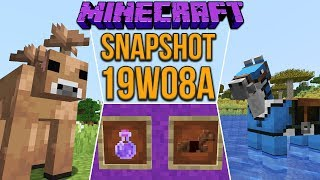Minecraft 1.14 Snapshot 19w08a Brown Mooshrooms! Dyeable Leather Horse Armor & Tamable Foxes!