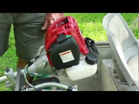 Homemade Weedeater Outboard Motor Test Funnycat Tv
