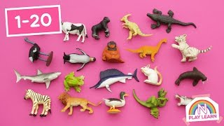 Counting with Dinosaurs And Other Animals   Part 2   Learn Animals while Learning to Count to 20