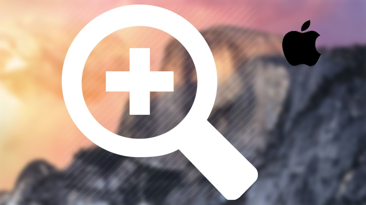 How to Screen Zoom in Mac Yosemite OS X how to scroll zoom