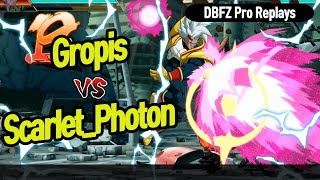 【DBFZ】 Gropis vs Scarlet_Photon, Now who is the god of combos?? 【DBFZ Pro Replays】