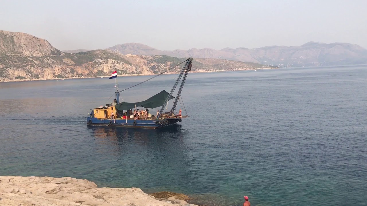 Boat party in front of Lokrum nudist beach