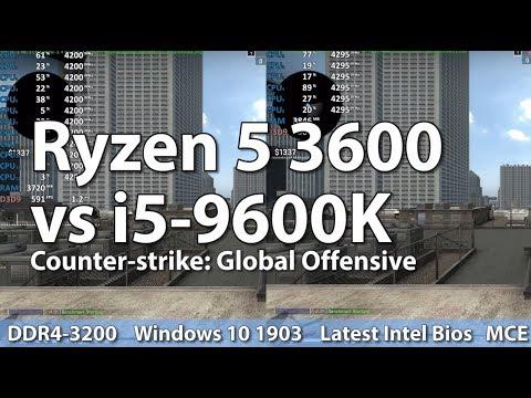 AMD Ryzen 5 3600 vs Intel i5-9600K - Counter-Strike: Global Offensive CS:GO  - Benchmark Comparison