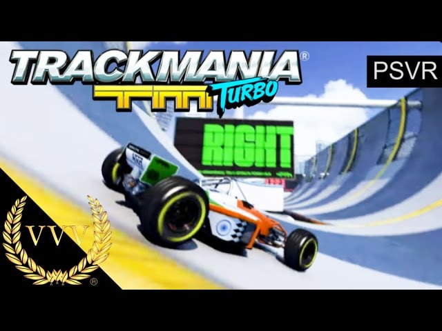 Playing Trackmania Turbo in PSVR