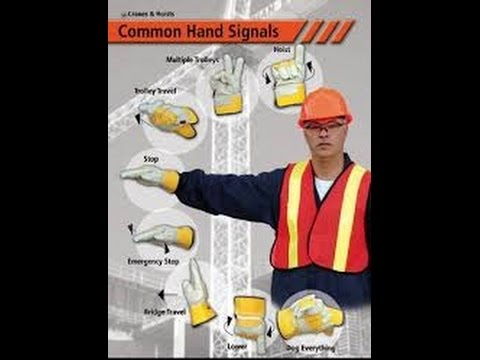 Safety in working with cranes