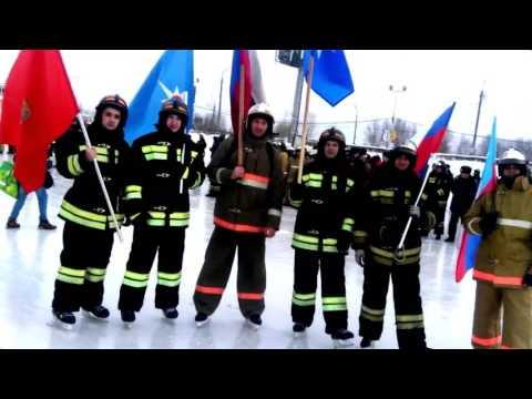 Пожарный флешмоб в Красноярске! Firefighter's flashmob in Krasnoyarsk 2017/02/23