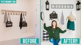 HOW TO BUILD A BOARD & BATTEN HOOK WALL | Entry & Mud Room Organization