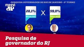 Paraná Pesquisas: No RJ, Witzel tem 67,8% dos votos válidos contra 32,2% de Paes