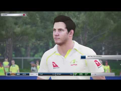 AUSTRALIA VS WORLD XI  TEST MATCH 2017// ASHES Cricket 2017 GAMEPLAY PS4