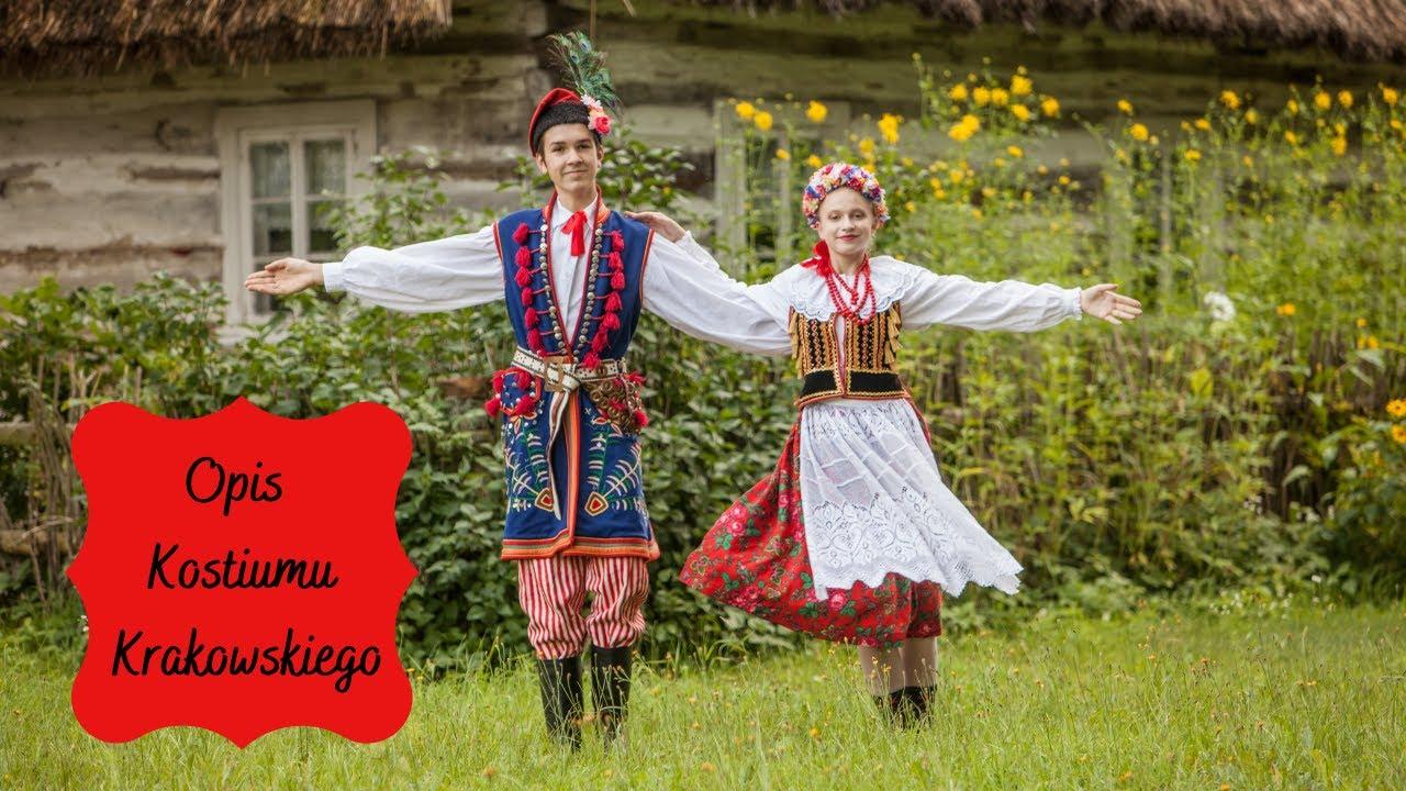 """Opis kostiumu krakowskiego - Zespół Pieśni i Tańca """"Dąbrowica"""""""