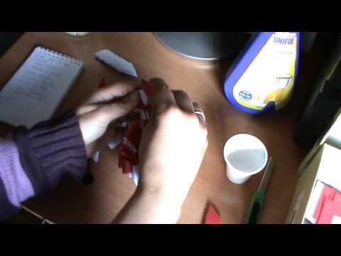 Origami 3D tutorial Cesta Corazón 2ª parte1 xvid