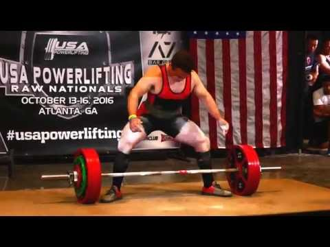 John Downing 2016 USAPL Raw Nationals