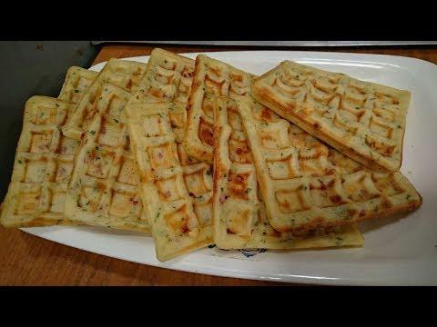 Receta de waffles dulces y salados