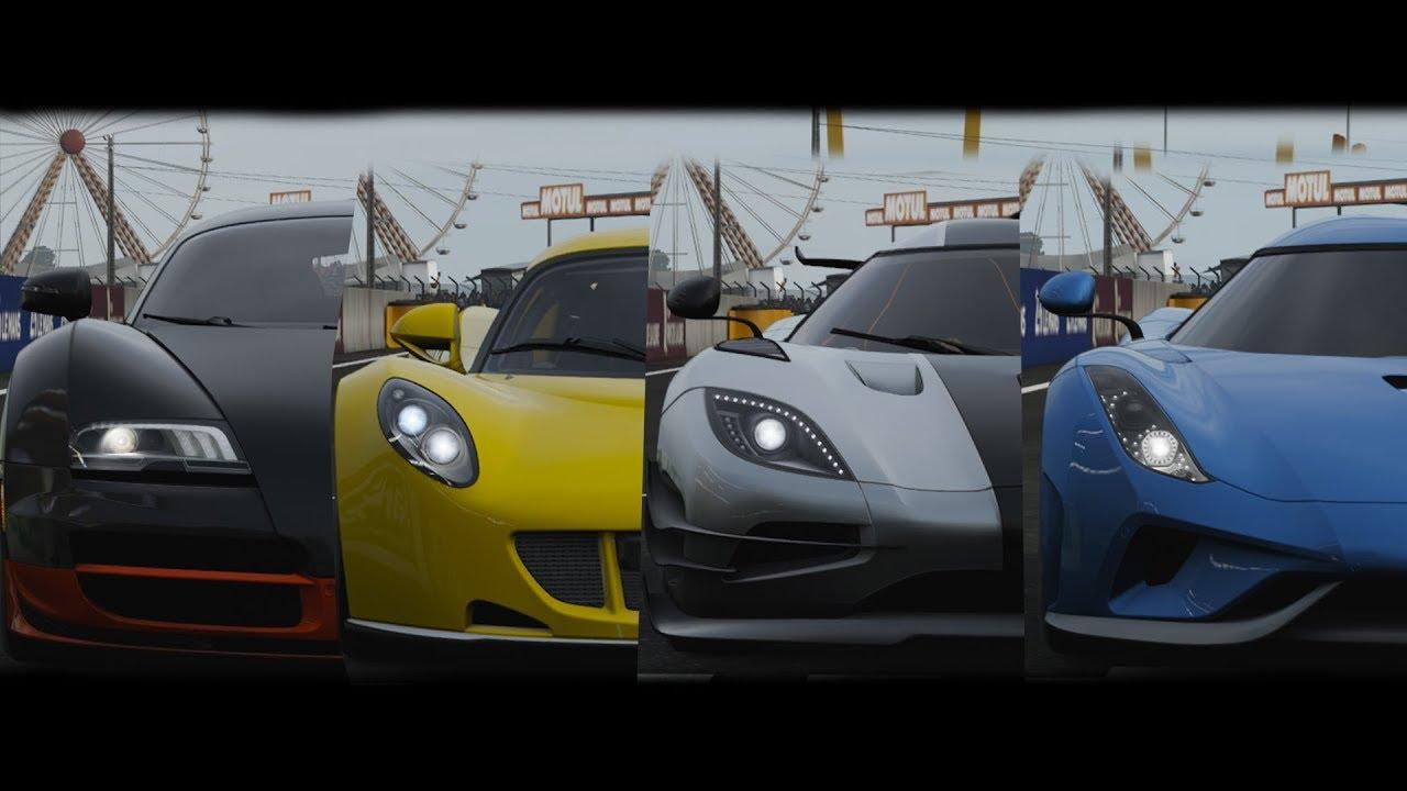 Venom Gt 2017 >> Forza 7 - 0-400 km/h-0 - Koenigsegg One:1, Venom GT, Bugatti Veyron SS & Regera! - YouTube
