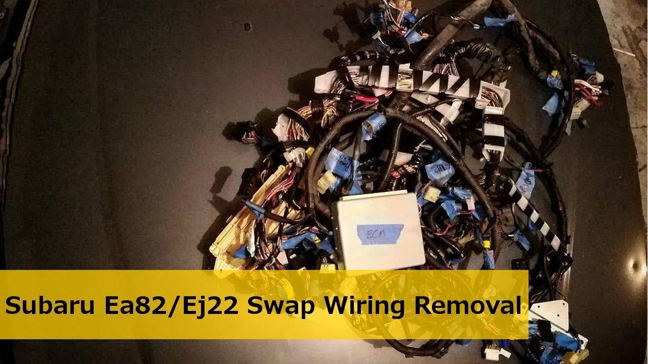 wiring removal subaru ea82 ej22 swap youtube trailer wiring harness wiring removal subaru ea82 ej22 swap