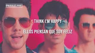 Happy when I'm sad - Jonas Brothers (lyrics - traducción al español) 🎭