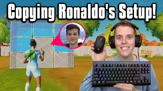Trying NRG Ronaldo's Setup In Arena! - Fortnite Battle Royale