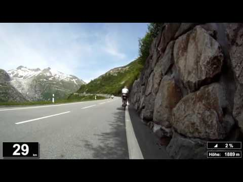 Indoor Cycling Training: Furkapass (Suisse / Alps) - in full length!!! (Part 1/3)