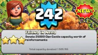 level 242 with 1 500 000 donations clash of clans highest player ever proof