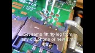How to repair broken sim jacket without full jacket changing...wmv