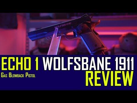 Echo1 Wolfsbane 1911 Gas Blow Back Pistol | Airsoft GI