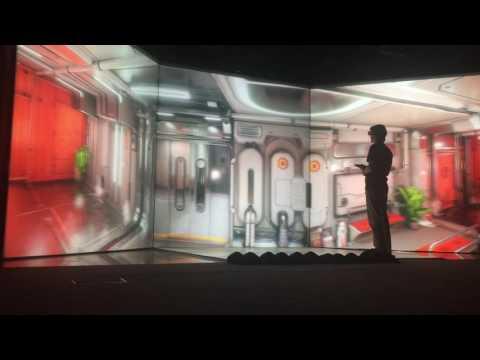 vrCluster. Unreal engine 4 in VR Cluster(CAVE). Scifihall demo scene.