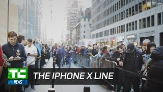 In line for the iPhone X