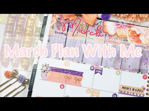 March Monthly Plan With Me / Feat Lexie Kylee Designs