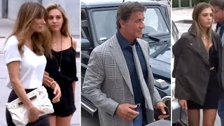 Sly Stallone Brings His Lovely Ladies To Dinner At Craig