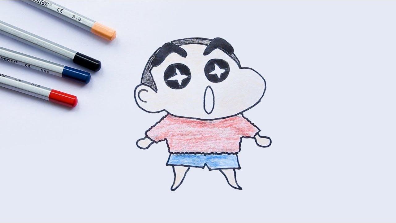 Draw and Coloring Crayon Shin-chan  - Tập vẽ và tô màu Shin cậu bé bút chì