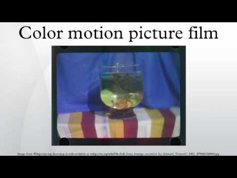 Color motion picture film
