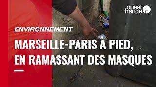 De Marseille à Paris, ils ramassent les masques anti-Covid trouvés par terre