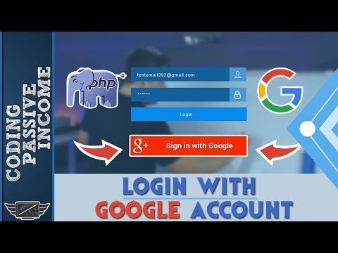 Login With Google Account Using PHP & Client API & Bootstrap Design