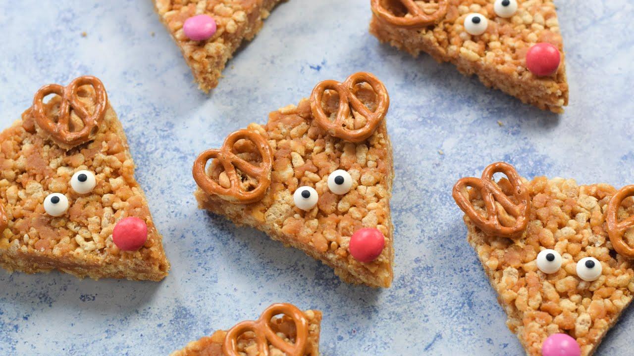 (AD) Peanut Butter Rice Crispy Reindeer Recipe