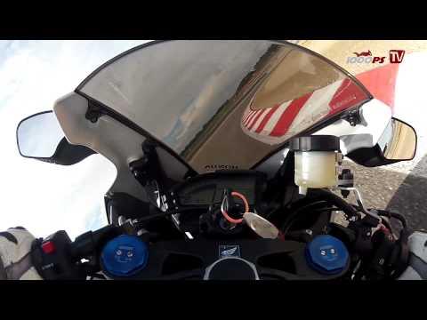 Honda CBR1000RR Fireblade onboard video at Racetrack Alcarraz