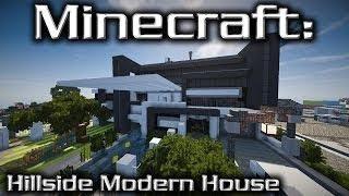 Minecraft modern hillside mansion